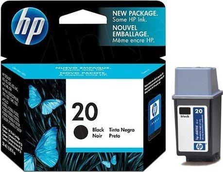 HP 20 Druckkopf mit Tinte schwarz 14ml (C6614NE)