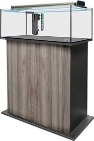 sera AquaTank 96l fiXture Aquarium-Set mit 80cm Unterschrank, Gray Oak (32522)