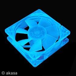 Akasa UV case fan blue, 80mm (AK-176BL-S)