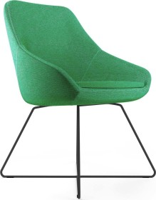 Viasit Calyx Loungesessel Kufengestell schwarz, Bezug Step grün (CA-K5000.4)