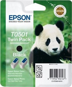 Epson T0501 Ink black, 2-pack (C13T050142)