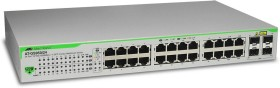 Allied Telesis GS950 Desktop Gigabit Smart Switch, 20x RJ-45, 4x RJ-45/SFP (AT-GS950/24)