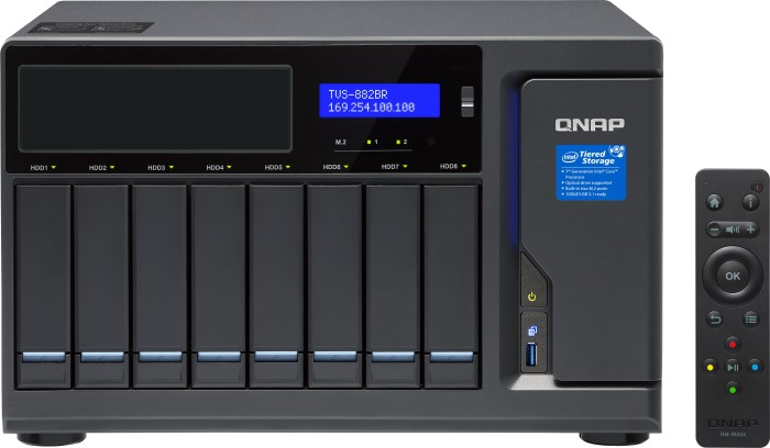 QNAP TVS-882BRT3-I5-16G, 16GB RAM, 4x Thunderbolt 3, 4x Gb LAN