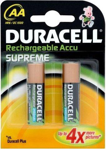Duracell Supreme Mignon AA NiMH rechargeable battery 2650mAh, 2-pack -- via Amazon Partnerprogramm