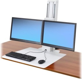 Ergotron WorkFit-SR white, Dual-Monitor with working surface (33-407-062)
