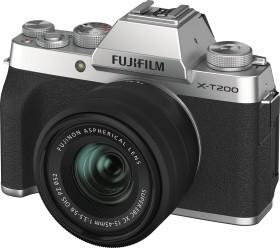 Fujifilm X-T200 silber mit Objektiv XC 15-45mm 3.5-5.6 OIS PZ (16647111)