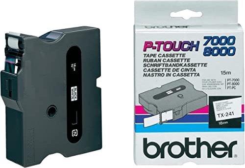 Brother TX-241 (18mm, schwarz auf weiß) -- via Amazon Partnerprogramm