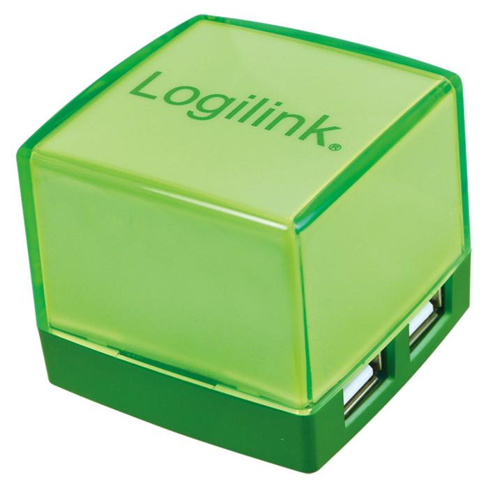 LogiLink Cube grün, beleuchtet, 4-port (UA0121)