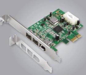 Dawicontrol DC FW800 PCIe, 3x FireWire 800, PCIe x1