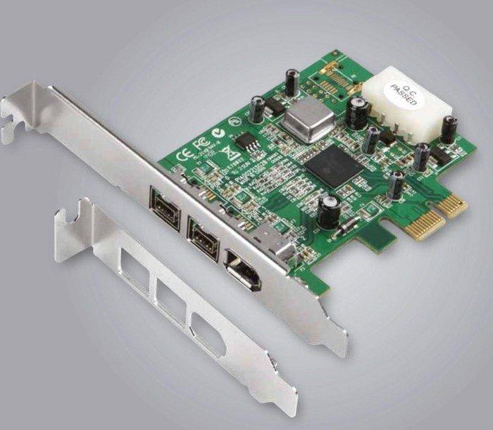 Dawicontrol DC-FW800 PCIe, 3x FireWire 800, PCIe x1