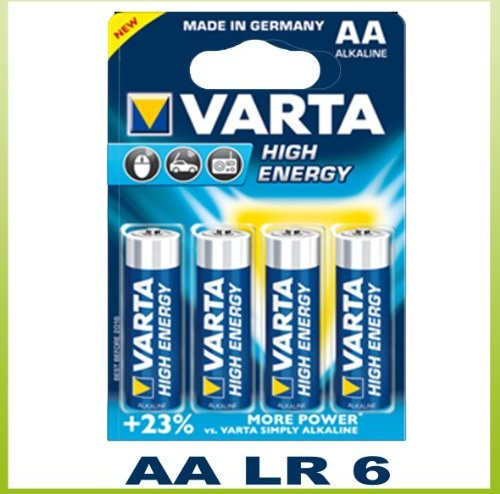 Varta High Energy LR6-AA, Alkali, 1.5V, 4er-Pack (4906-101-404) -- via Amazon Partnerprogramm