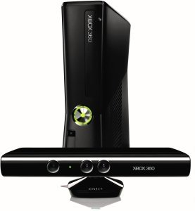Microsoft Xbox 360 Slim Kinect Bundle, 250GB