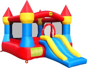 Mehrfarbig Happy Hop 9017P Castle Bouncer with Slide bunt
