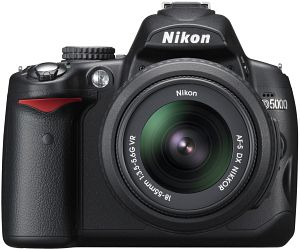Nikon D5000 with lens AF-S VR DX 18-55mm 3.5-5.6G (VBA240K001)