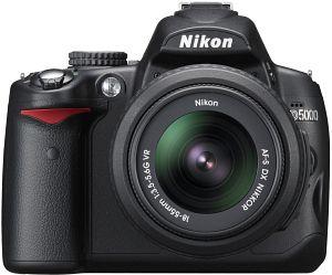 Nikon D5000 black with lens AF-S VR DX 18-55mm 3.5-5.6G (VBA240K001)
