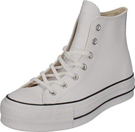 8637aa5466f Converse Chuck Taylor All Star lift Leather High top white black ...