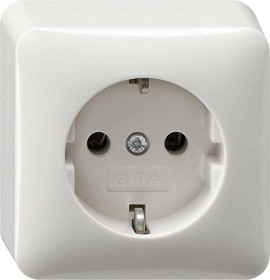 Gira SCHUKO-socket 16A 250V, pure white (0440 13)
