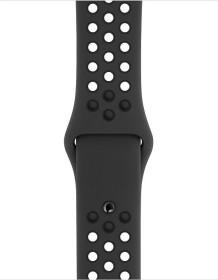 Apple Nike Sportarmband S/M und M/L für Apple Watch 40mm anthrazit/schwarz (MX8C2ZM/A)