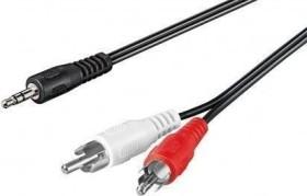 Wentronic Goobay 3.5mm Klinke/Cinch Audio Kabel 5m (50195)