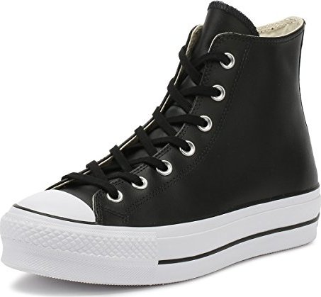 Converse Chuck Taylor All Star Lift Leather High Top schwarz/weiß (Damen)  (561675C)