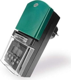REV Ritter digitale Außenzeitschaltuhr, IP44, anthrazit/grün (0025760603)