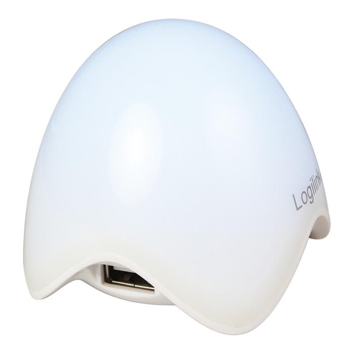 LogiLink Egg USB-Hub, 3x USB-A 2.0, USB-A 2.0 [Stecker] (UA0123)