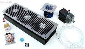 Aqua computer High End 360 water cooling kit (Socket A/478)