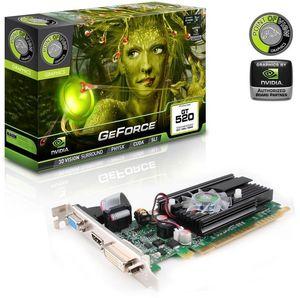 Point of View GeForce GT 520, 1GB DDR3, VGA, DVI, HDMI (VGA-520-A1-1024)