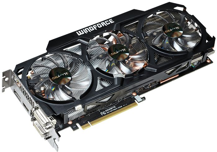 Gigabyte GeForce GTX 770 Windforce 3X OC, 2GB GDDR5, 2x DVI, HDMI, DisplayPort (GV-N770OC-2GD)