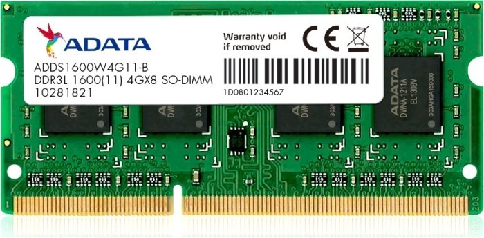 ADATA Premier SO-DIMM 8GB, DDR3L-1600, CL11-11-11-28, retail (ADDS1600W8G11-R)
