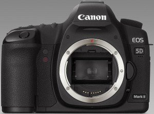 Canon EOS 5D Mark II with third-party manufacturer lens