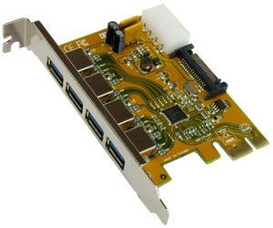 Exsys EX-11094, 4x USB 3.0, PCIe 2.0 x1