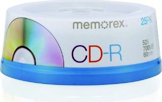 Memorex CD-R 80min/700MB, sztuk 25 -- via Amazon Partnerprogramm