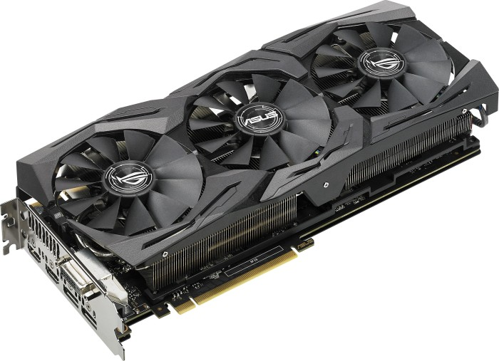 ASUS ROG Strix GeForce GTX 1080 Ti, ROG-STRIX-GTX1080TI-11G-GAMING, 11GB GDDR5X, DVI, 2x HDMI, 2x DisplayPort (90YV0AM1-M0NM00)