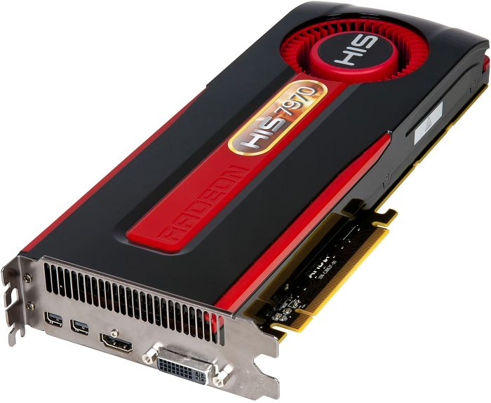 HIS Radeon HD 7970, 3GB GDDR5, DVI, HDMI, 2x mini DisplayPort (H797F3G2M)