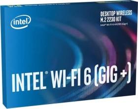 Intel Wi-Fi 6 Gig+ Desktop Kit, AX200 ohne vPro, 2.4GHz/5GHz WLAN, Bluetooth 5.1, M.2/A-E-Key (AX200.NGWG.DTK)