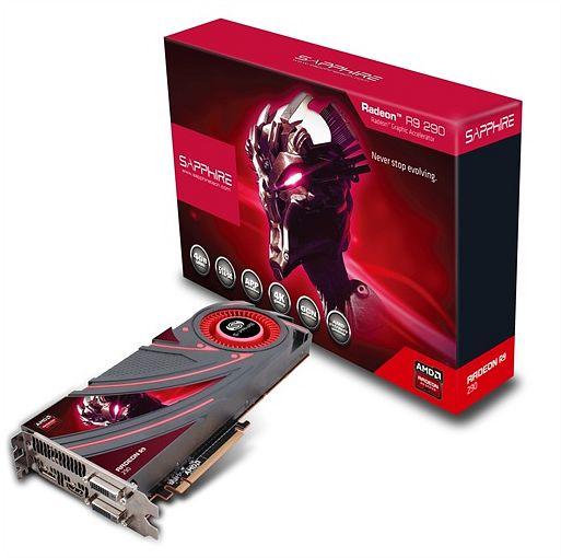 Sapphire Radeon R9 290, 4GB GDDR5, 2x DVI, HDMI, DisplayPort, full retail (21227-00-40G)