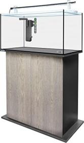 sera AquaTank 128l Tube Holder Aquarium-Set mit 80cm Unterschrank, Silver Oak (32468)