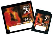 Pontis CompactFlash Card [CF] 64MB with Quadriga 4-way card holder