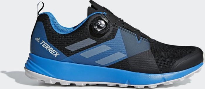 2257d00fcb5607 adidas Terrex Two Boa core black grey one bright blue (Herren) (