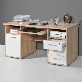 Germania 0484, oak/white, desk