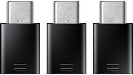 Samsung EE-GN930 Adapter USB-C 2.0 [Stecker]/USB 2.0 Micro-B [Buchse], schwarz, 3er-Pack (EE-GN930KBEGWW)