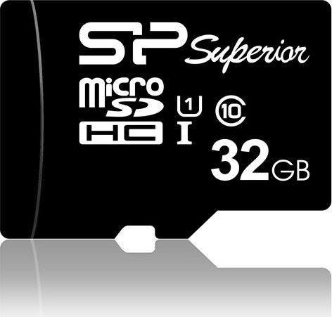 Silicon Power Superior R90/W45 microSDHC 32GB Kit, UHS-I U1, Class 10 (SP032GBSTHDU1V10SP)