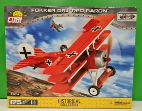 Cobi Historical Collection Great War Fokker Dr.1 Red Baron (2974)
