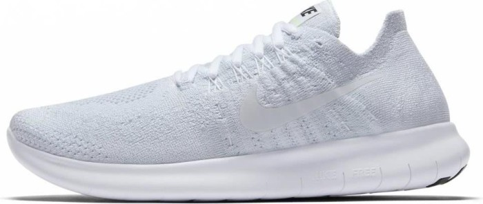 a13c13e269ed Nike Free RN Flyknit 2017 white pure platinum black (ladies) (880844 ...