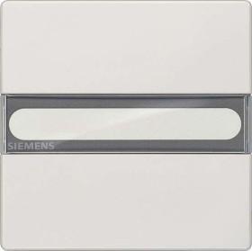 Siemens DELTA style Wippe mit Schild, titanweiß (5TG7156)