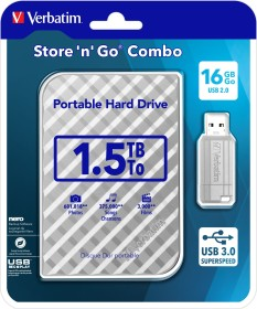 Verbatim Store 'n' Go Combo Set grau 1.5TB, USB 3.0 Micro-B (53239)