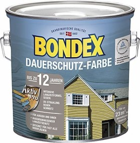 Bondex Dauerschutz-Farbe Holzschutzmittel schwedenrot, 2.5l (365233)