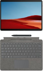Microsoft Surface Pro X SQ2 Mattschwarz, 16GB RAM, 256GB SSD, LTE + Surface Pro X Signature Keyboard Platingrau, Surface Slim Pen Bundle