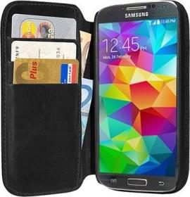 Pedea Book Cover Echtleder für Samsung Galaxy S5 schwarz (11160063)
